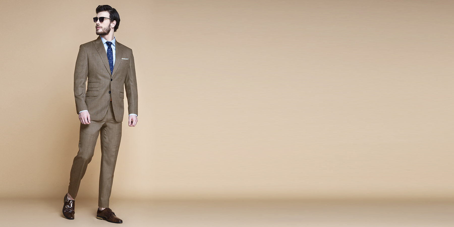 Nalton Brown Nailhead Suit- view-1