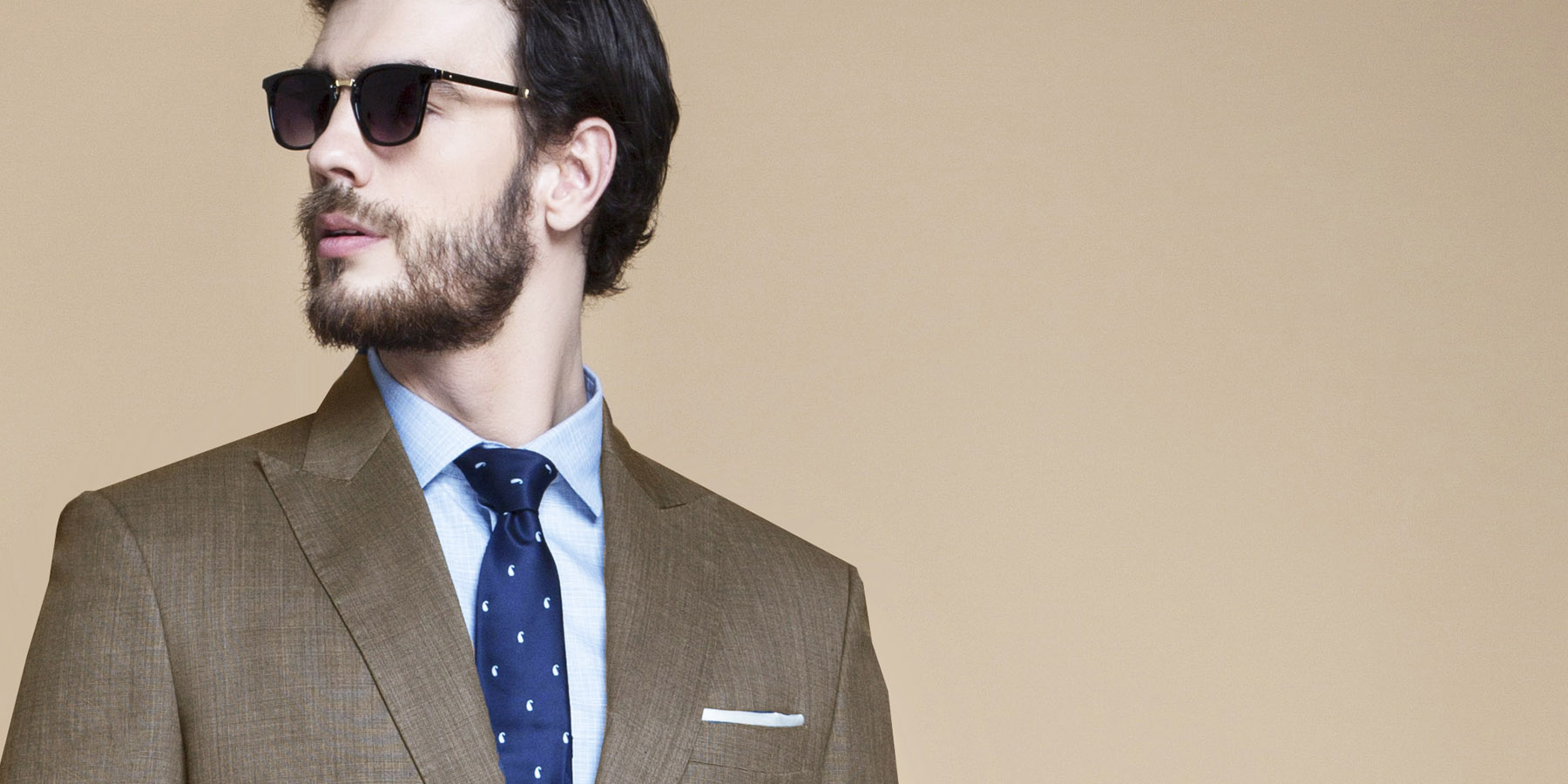 Nalton Brown Nailhead Suit- view-3