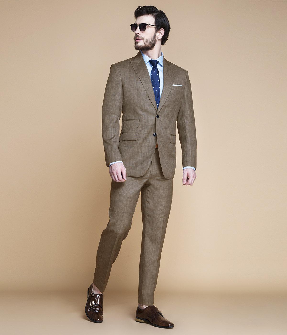 Nalton Brown Nailhead Suit-mbview-main