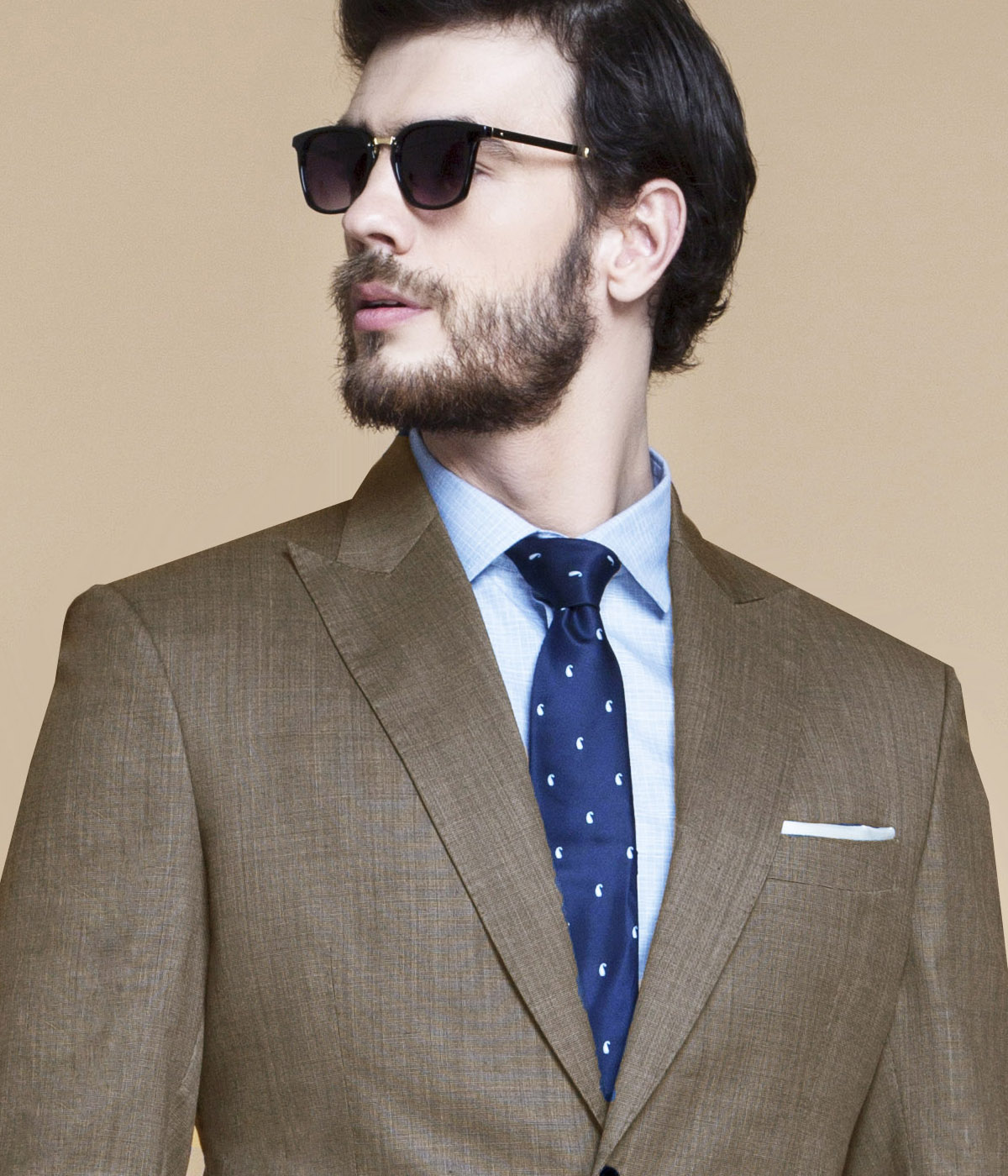 Nalton Brown Nailhead Suit-mbview-3