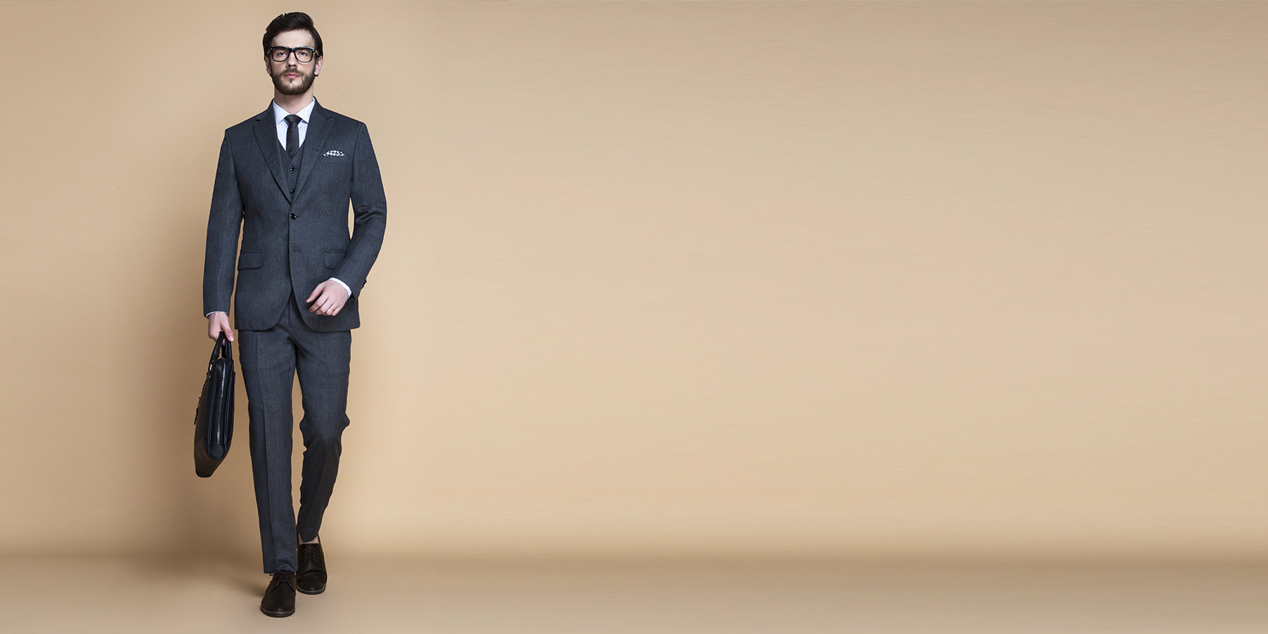 Windsor Grey Flannel Suit- view-1