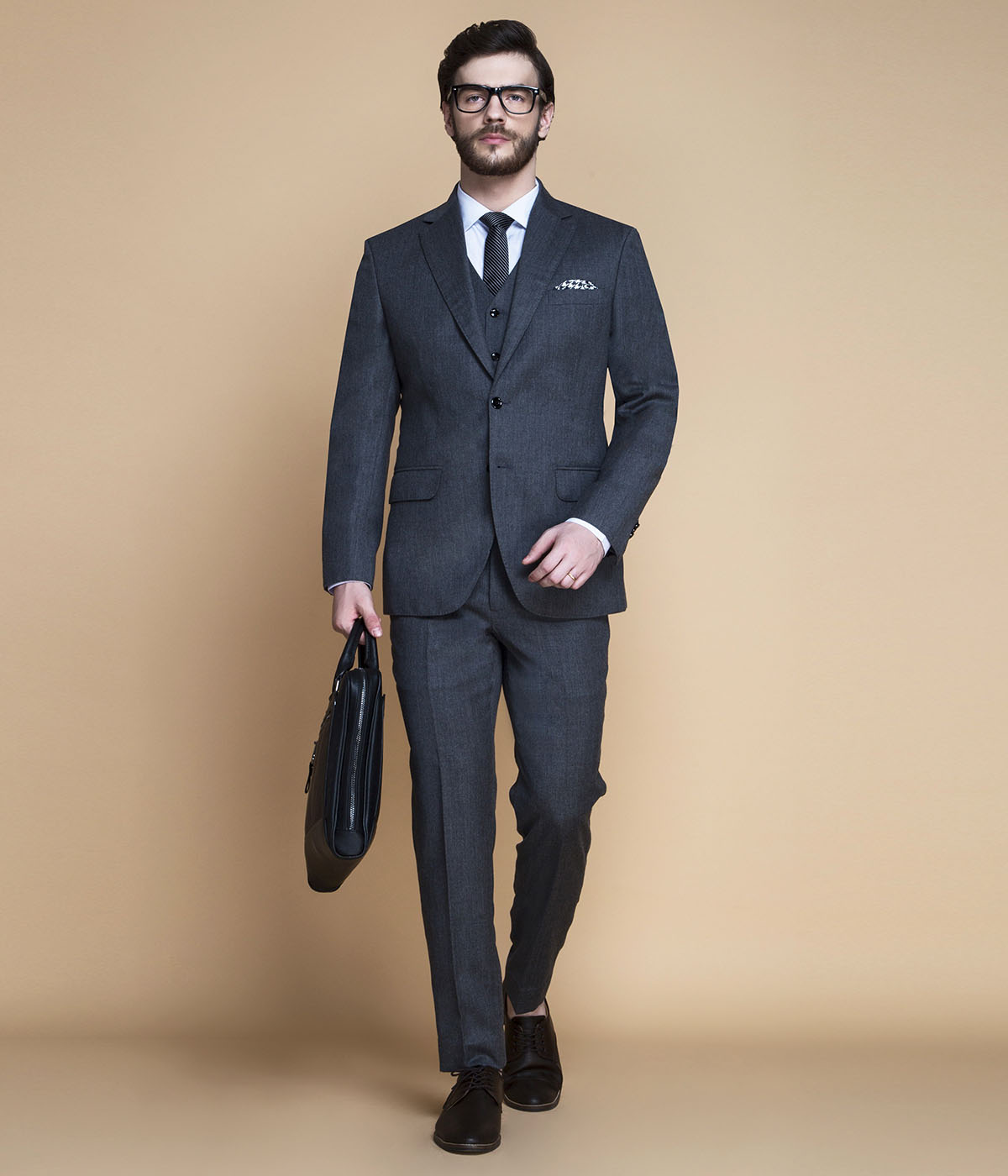 Windsor Grey Flannel Suit-mbview-1