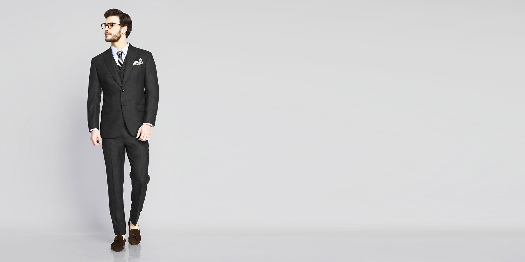 Tribeca Charcoal Birdseye Suit- view-1