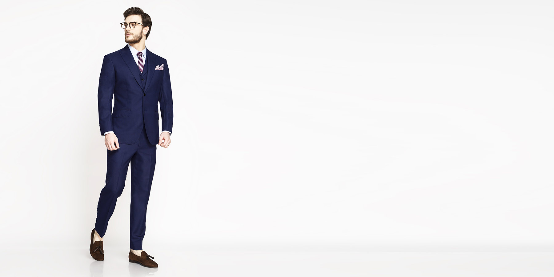 Lincoln Square Blue Birdseye Suit- view-1