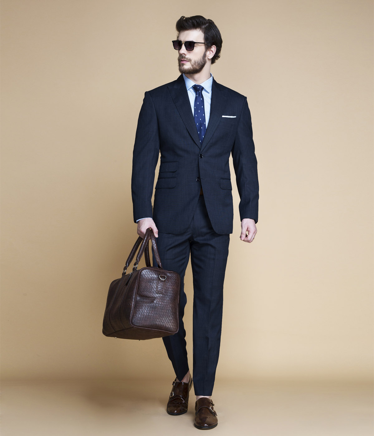 Lazio Houston Blue Nailhead Suit-mbview-1