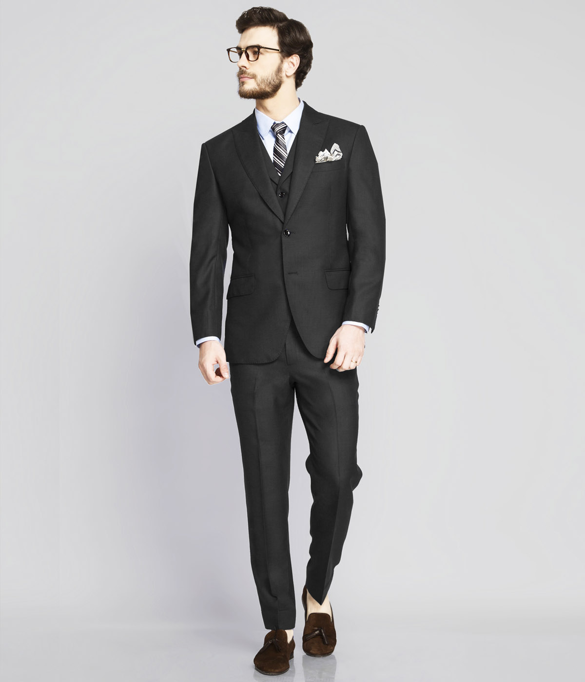 Chicago Charcoal Birdseye Suit-mbview-1