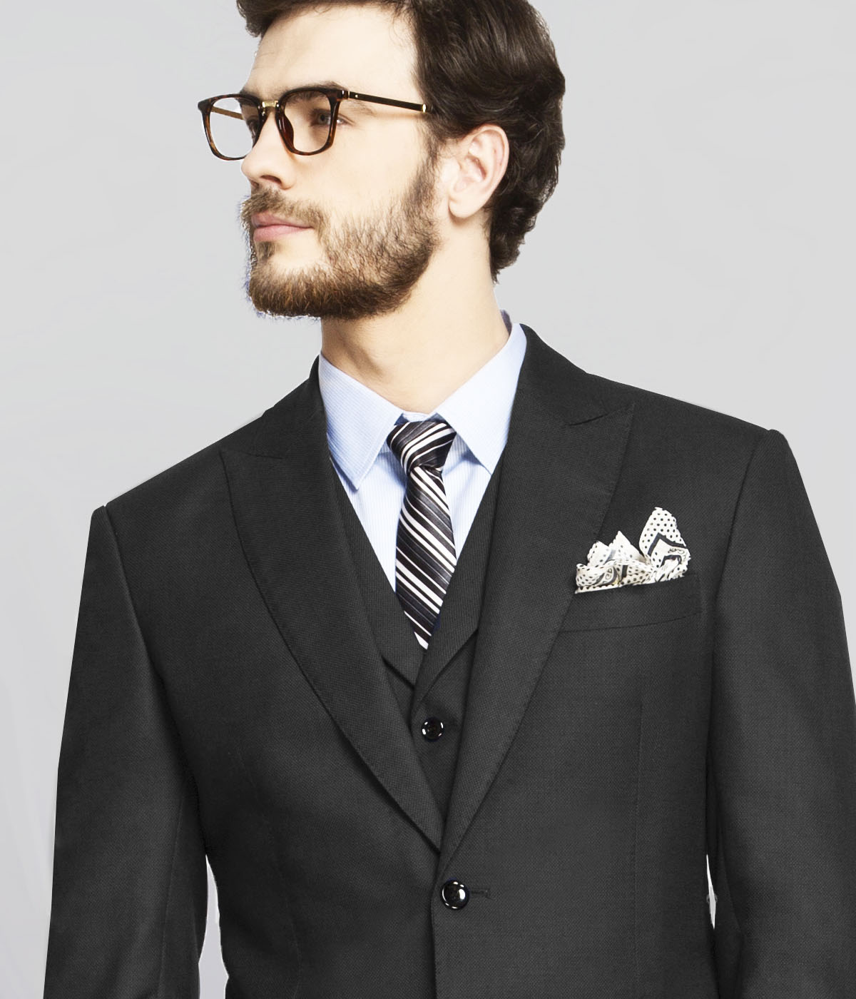 Chicago Charcoal Birdseye Suit-mbview-3