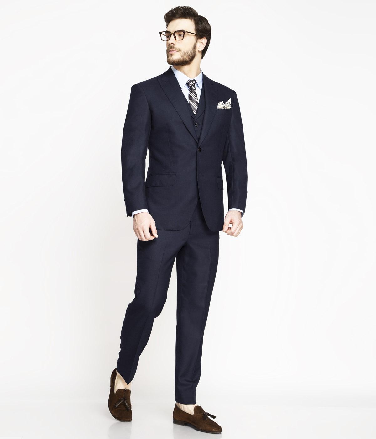 Moss Blue Birdseye Suit-mbview-1