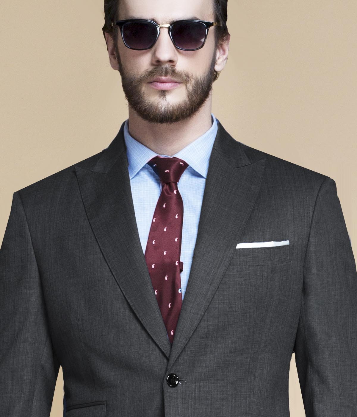 Hudson Charcoal Nailhead Suit-mbview-3