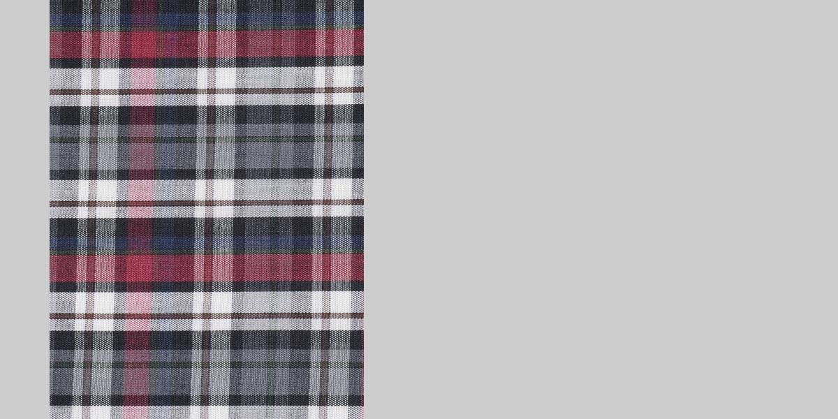 Maroon & Grey Tartan Checks Shirt- view-3