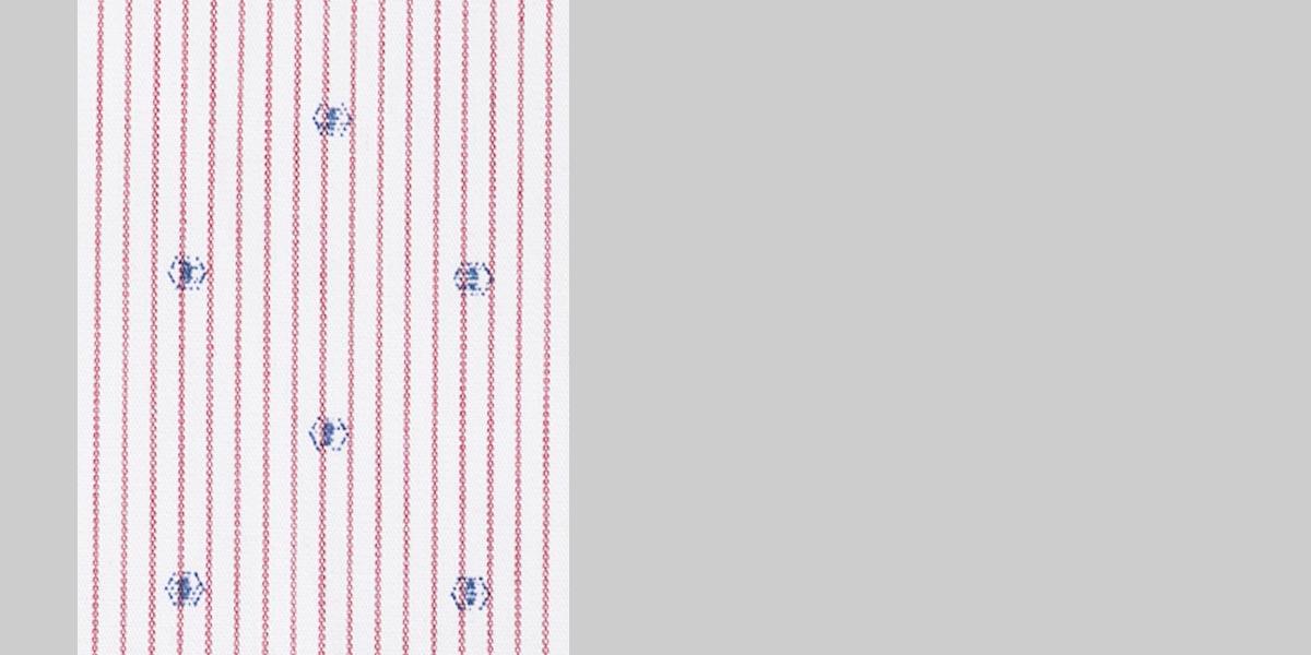 Wine Pencil Striped Shirt- view-3