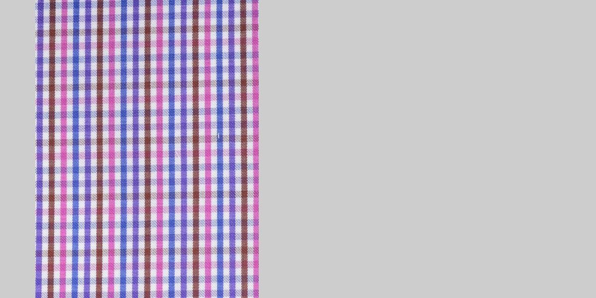 Blue & White Microcheck Shirt- view-3