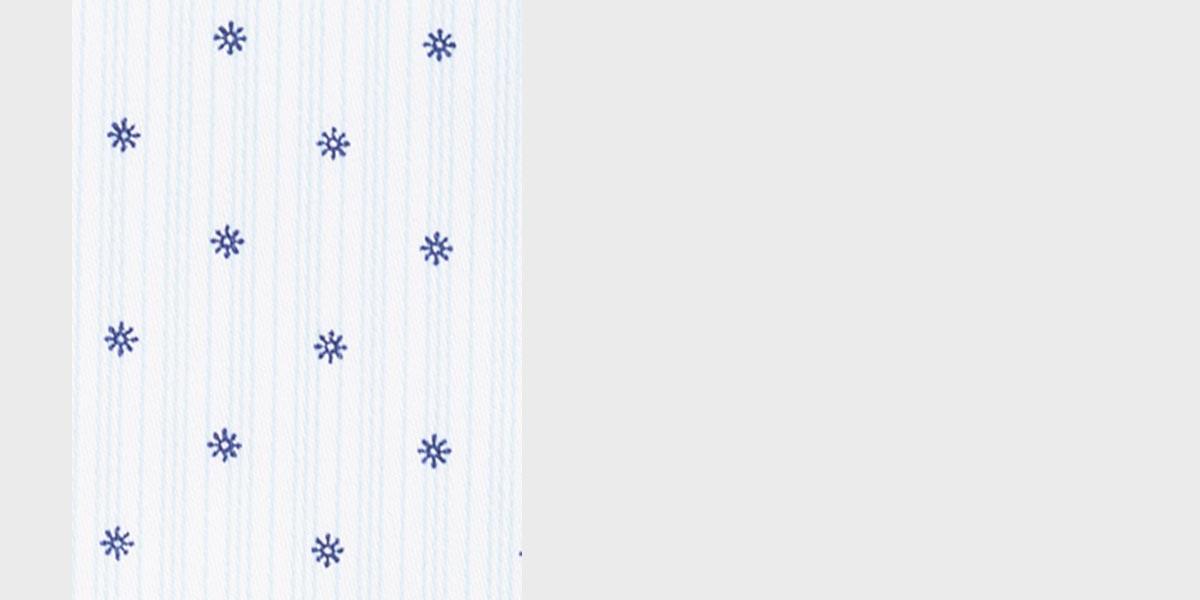 Striped Blue Print Shirt- view-3