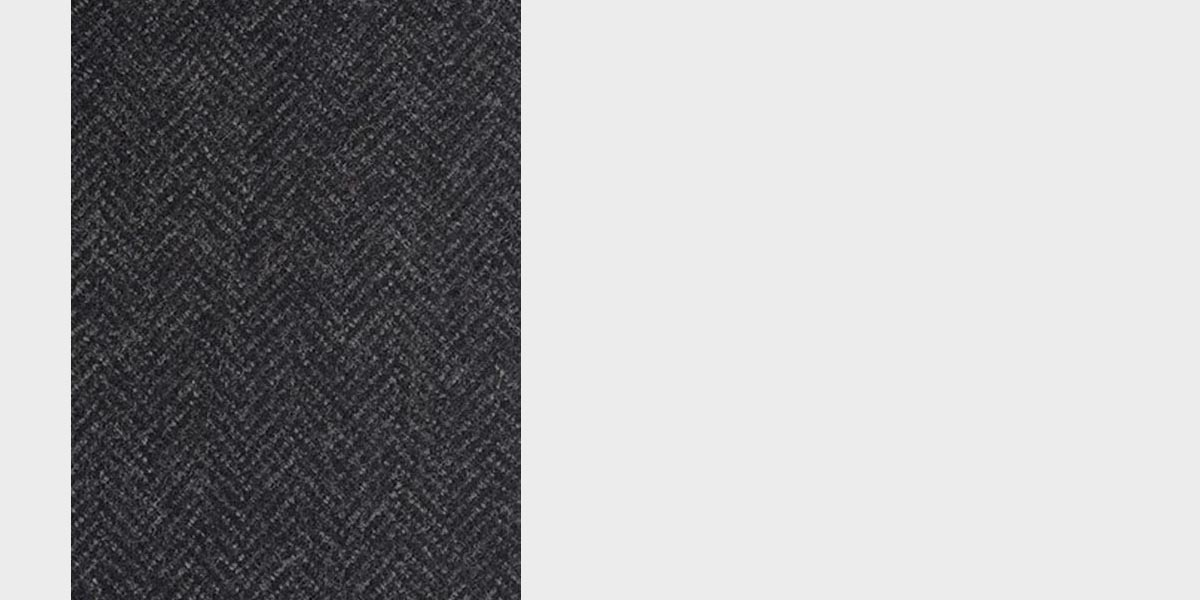 Charcoal Herringbone Wool Overcoat- view-4
