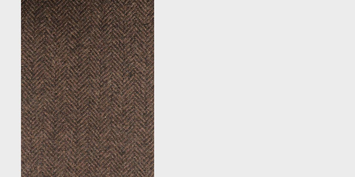 Brown Herringbone Wool Overcoat- view-4
