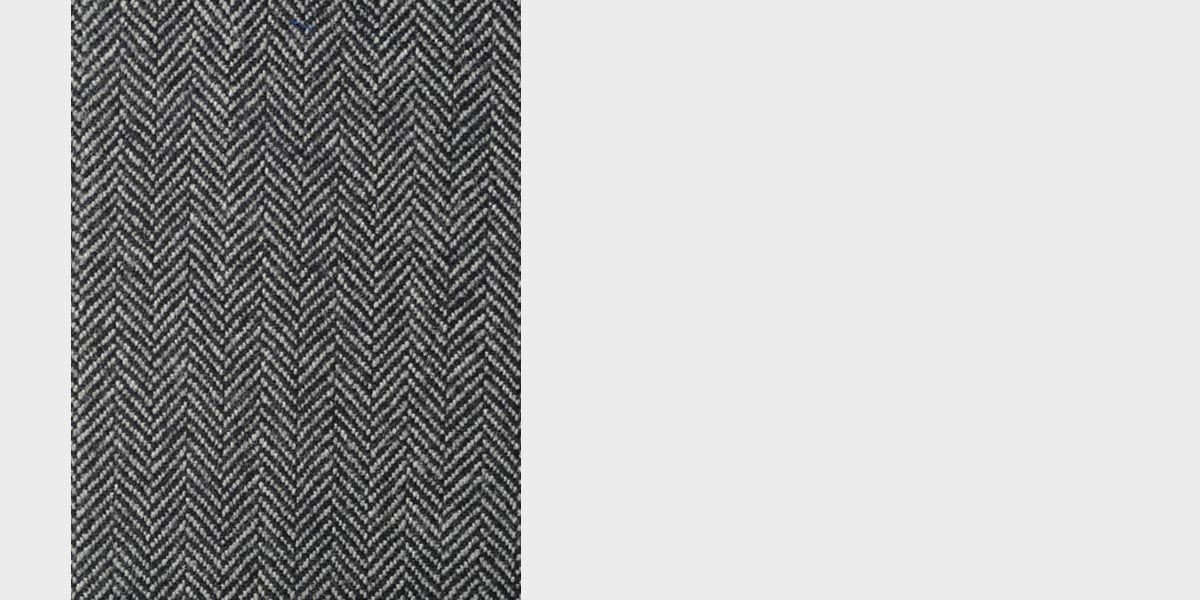 Steel Gray Herringbone Wool Overcoat- view-4
