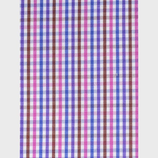 Blue & White Microcheck Shirt-mbview-3