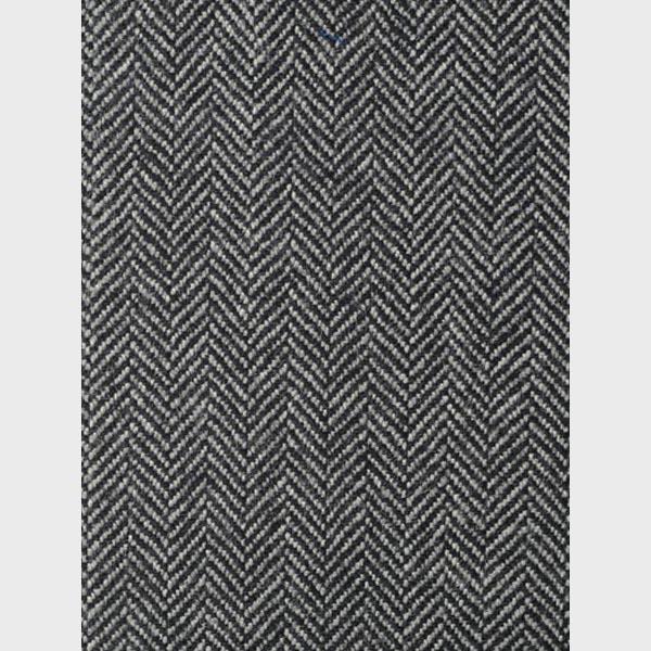 Steel Gray Herringbone Wool Overcoat-mbview-4