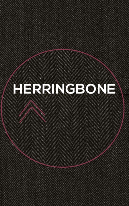 Fabric shot for Coffee Brown Herringbone Custom Suit