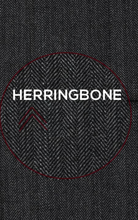 Fabric shot for Charcoal Herringbone Custom Suit