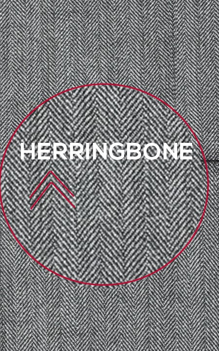 Fabric shot for Gray Herringbone Custom Suit