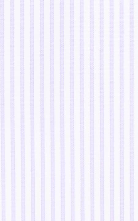 White & Purple Pencil Striped Cotton