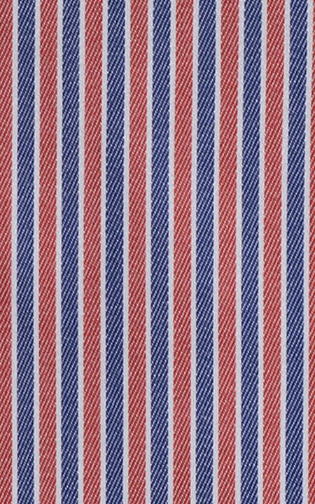 American Blue & Red Pencil Stripes Egyptian Cotton