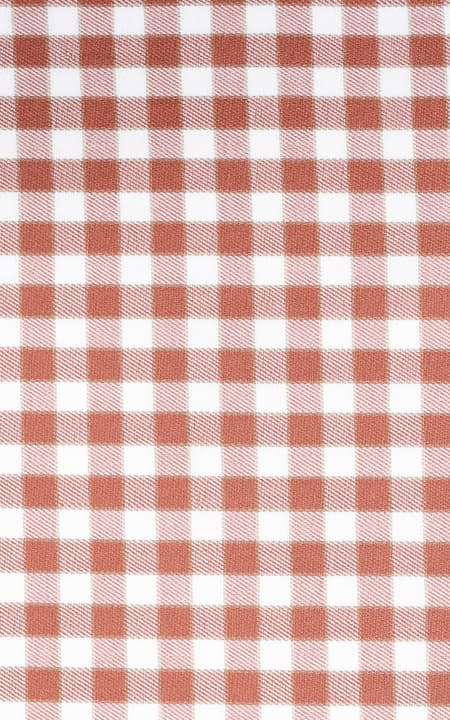 Brick Gingham Checks Cotton