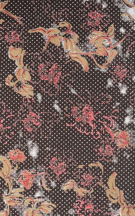 Fabric shot for Aruba Brown Floral Shirt