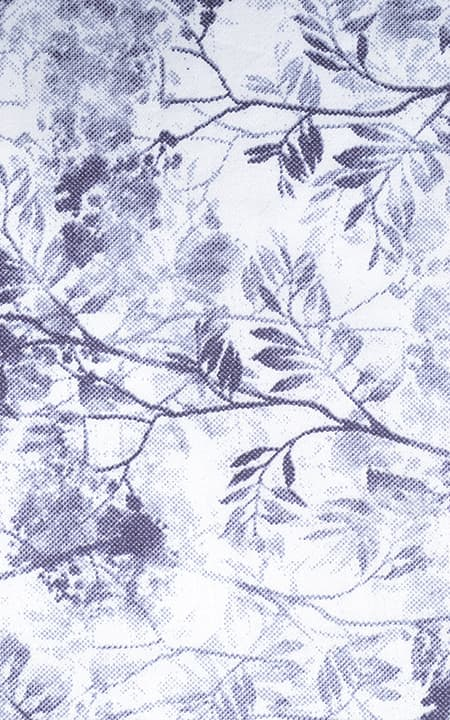 Fabric shot for Japanese Blue Floral Shirt