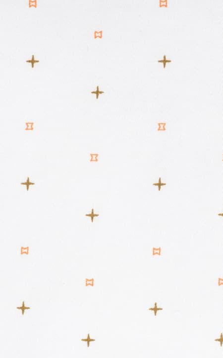 White Printed Stars Cotton