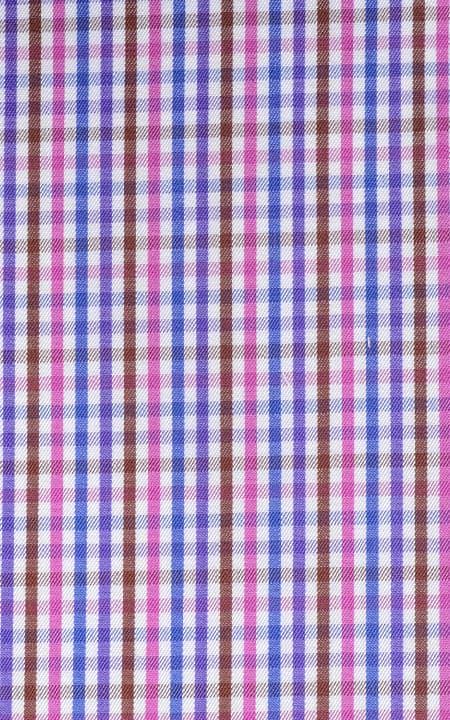 Fabric shot for Blue & White Microcheck Shirt