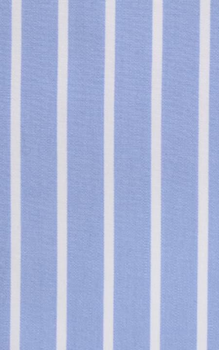 Blue Broadstripes Luxurious Cotton