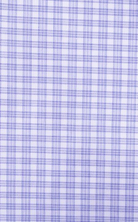 Brushed Blue Checks Egyptian Cotton