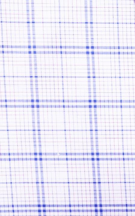 Two-Tone Blue Egyptian Cotton Checks