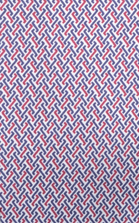 Blue And Red American Print Cotton