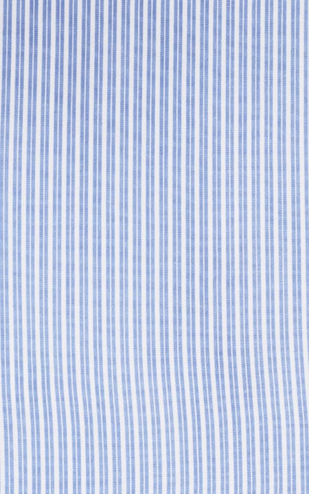Blue And White Striped Cotton