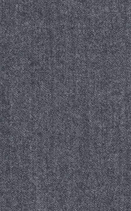 Pure Wool Fine-Worsted Dark Grey Flannel