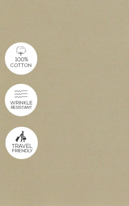 Fabric shot for Light Beige Khaki Cotton Pants