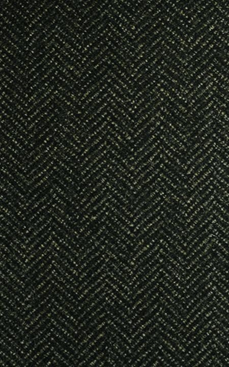 Pure Wool Green Herringbone Tweed