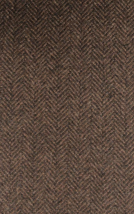 Pure Wool Rust Brown Herringbone Tweed