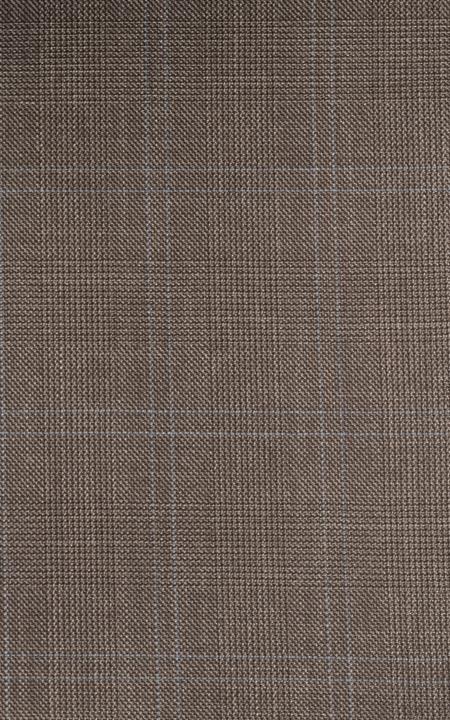 Fabric shot for Easyday Brown Checks Custom Pants