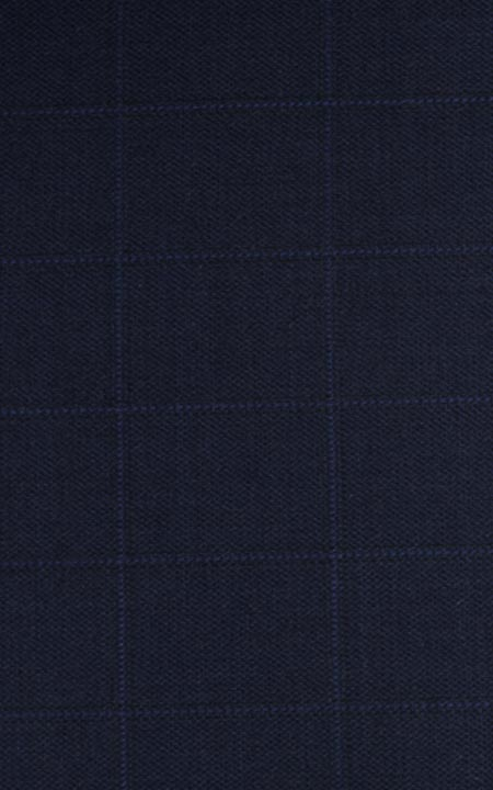 Fabric shot for Navy Blue Bombay High Checks Bandi
