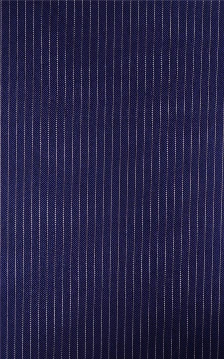 Basic Navy Blue With Pencil Stripes