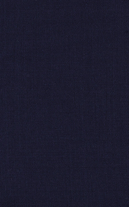 Pure Wool Navy Blue Solid