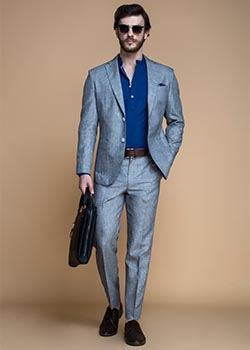 linen tailored suits