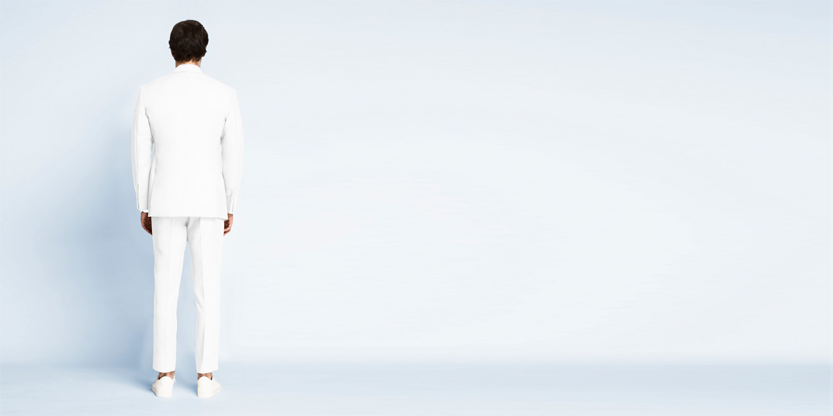 Napoli White Cotton Suit- view-2