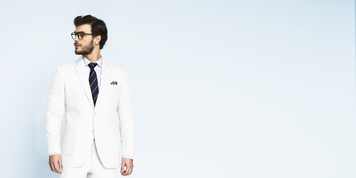 Napoli White Cotton Suit- view-3