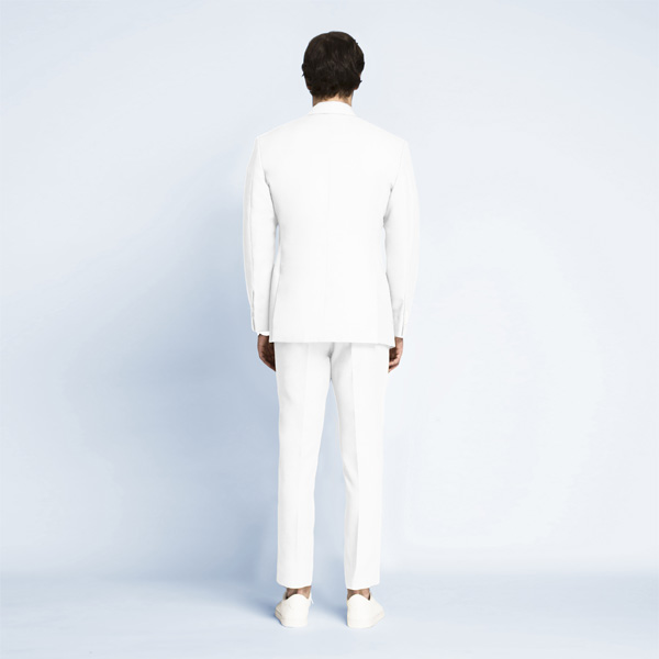 Napoli White Cotton Suit-mbview-2