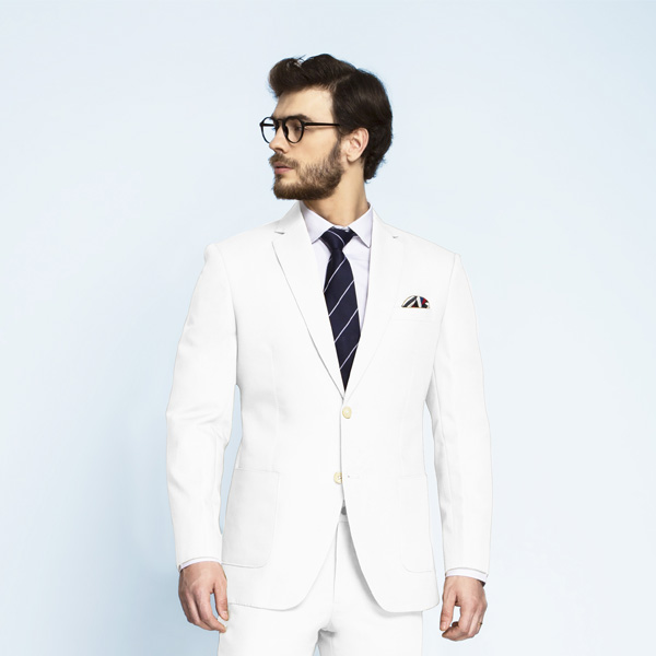 Napoli White Cotton Suit-mbview-3